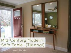 How-To: Build a mid-century style sofa table