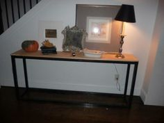 SUPER EASY CONSOLE TABLE