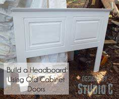 Headboard Using Unexpected Pieces
