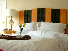 Headboard From Upcycled Shutters