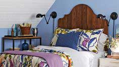 Headboard made from vertical planks