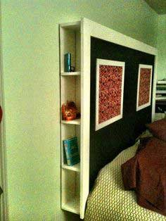 Head board with hidden cubbies
