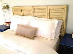 Built: headboard from shutters