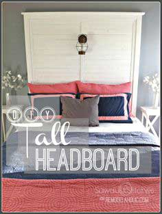 How to Build a Tall Slat Headboard
