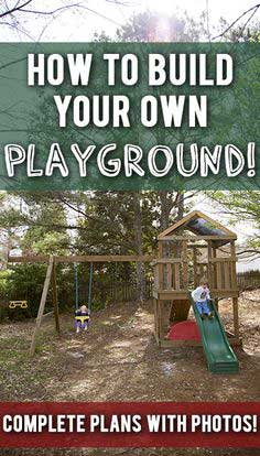 Build your own wood swingset/playset for your kids! Complete diagrams and step-by-step pics