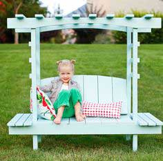 Build a Child's Bench with Arbor | Free and Easy DIY Project and Furniture Plans
