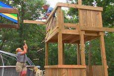how to build a backyard playset