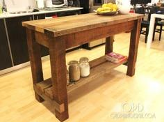 Kitchen island tutorial