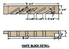 The Knife Block Plans