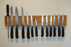 tutorial - magnetic knife holder, made from a leftover scrap of cherry lumber
