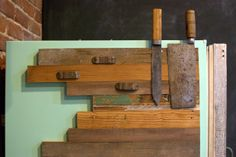 Reclaimed Wood Magnetic Knife Rack