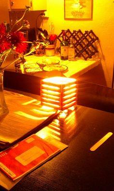 Popsicle Stick Shutter Lamp