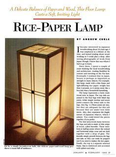 Lamp Plans For Experienced And Beginning Woodworkers
