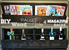 Wood pallet magazine holder