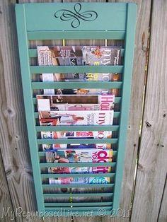 Shutter Upcycled Rack
