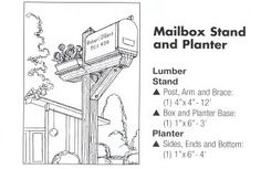 Mailbox planter stand plans