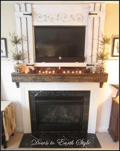 Upgrade Your Builder Mantel {easy}
