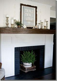 The Making of a Slip Covered Mantel