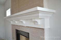 Building Our Fireplace: The DIY Mantel – Our DIY House