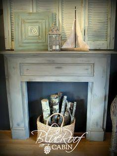 Mantel Made From Pine Boards
