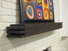 Modern Floating Mantel Shelf