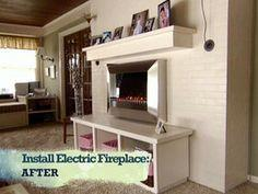 Install an Electric Fireplace With Custom-Built Mantel and Hearth