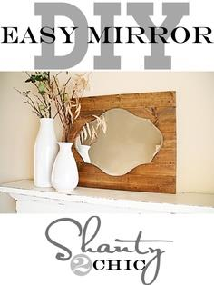 DIY Mirror ~ Pallet Art