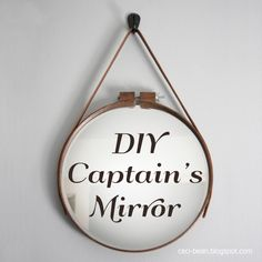 DIY Captain's Mirror- A Cautionary Tale