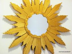 SUNBURST MIRROR (WITH WOOD SHIMS) – DIY