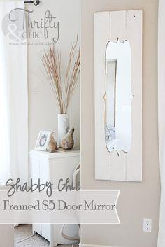 Shabby Chic Framed $5 Door Mirror