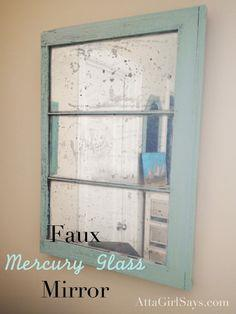 DIY Faux Mercury Glass mirror