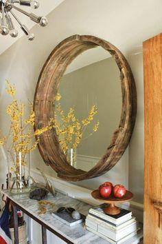 DIY TUTORIAL: WINE BARREL MIRROR