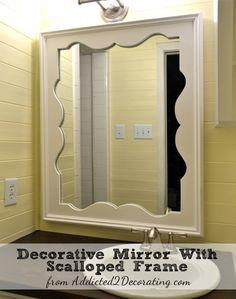 DIY Decorative Mirror With Scalloped Frame