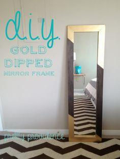 DIY Mirror Frame | Gold Dipped!