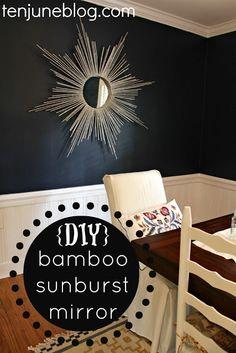 {DIY} Bamboo Sunburst Mirror