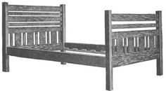 Mission Style Bedstead plans