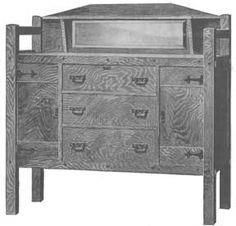 Mission Style Oak Buffet plans