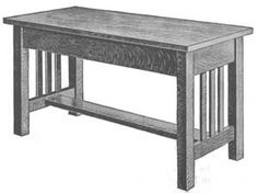 Mission Style Piano Bench plans
