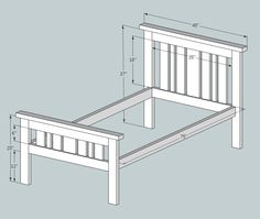2x4 Mission Style Bed plans