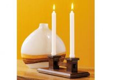 Mission candle holder