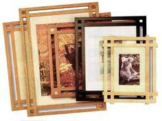 Mission style picture frames