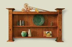 Arts and Crafts wall shelf plans