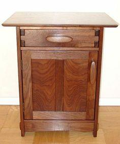 Arts and crafts style nightstand plans