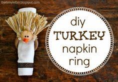 T is for Turkey Napkin Rings