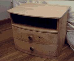 Curved bedside cabinets