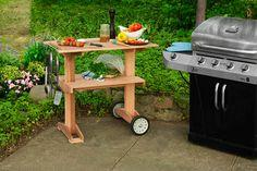 Outdoor rolling grill table