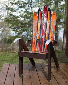Chair from Recycled Skis
