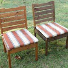 build a rustic outdoor chair
