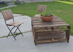 {Tutorial-Tried} Outdoor Pallet Table Part One