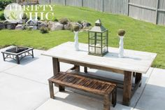 DIY Outdoor Bench Plans